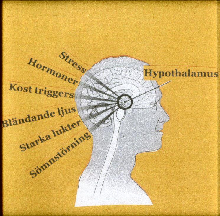 pulserande huvudvärk i bakhuvudet