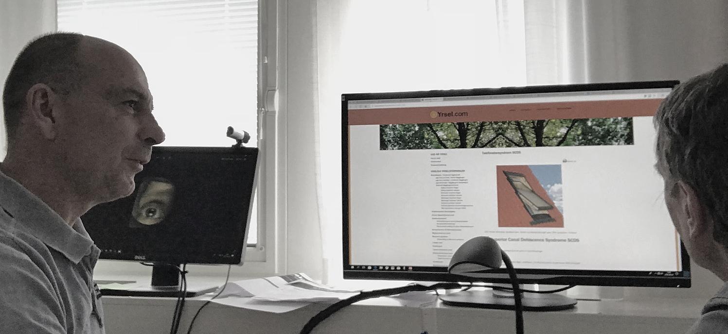 Christian Geisler använder yrsel.com för patientinformation